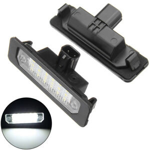 2packs Led Rear Number License Plate Light Fit Ford Mustang Focus Fusion Lincoln