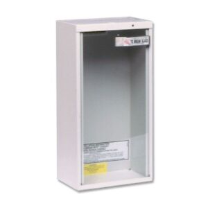Fire Extinguisher Cabinet Surface Mount 10 Lbs Tempered Glass Heavy Duty Steel