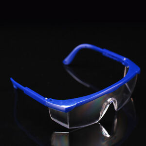 12pcs Dental Anti fog Safety Glasses Protective Eye Goggles Blue Frame Wb