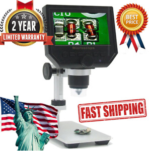 4 3 Lcd 1 600x Desktop 8led Studio Lab Usb Digital Microscope Hd 3 6mp Ccd