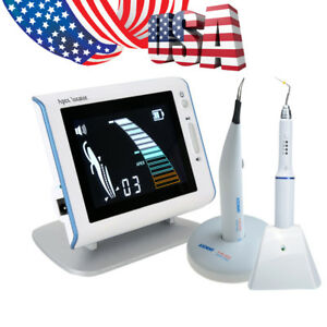 Dental Endo Gutta Percha Gum Cutter With 4 Tips Obturation Pen Apex Locator