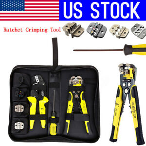 Us Paron Jx d4301 4 In 1 Ratchet Crimping Tool Terminals Pliers Wire Strippers