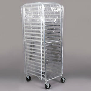 Regency 20 Pan End Load Full Height Bun Sheet Pan Rack With Cover And 12 Pans