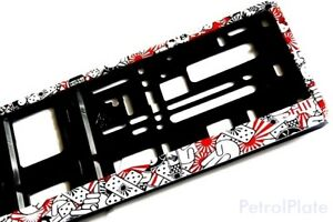 Jdm Stickerbomb European Euro Uk License Number Plate Holder Frame German New