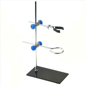 Portable 30cm Retort Stand Iron Stand With Clamp Clip Lab Ring Flask Clamps