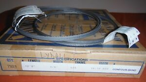 2 Sterling Band Saw Blades 12 3 135 X 1 4 X 025 Teeth 14 10 Contour Band