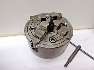 Buck 4 jaw Chuck 1144 With 5c Collet Back Stk 17327ac