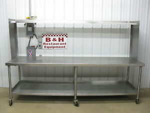 108 Stainless Steel Heavy Duty Work Top Kitchen Table W Over Shelf 9 X 30