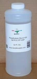 Polyethylene Glycol 400 peg 400 Nf fcc ep usp 32 Oz Food Grade concentrates