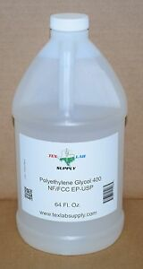 Polyethylene Glycol 400 peg 400 Nf fcc ep usp 64 Oz Food Grade concentrates
