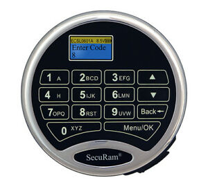Securam Scanlogic L66 Fingerprint Code Electronic Keypad And Lock Kit For Safe