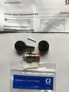 New Genuine Graco Prime Valve Repair Kit 235014 W Handle