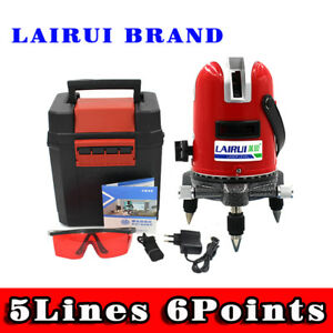 5 Lines 6 Points Laser Level 360 Vertical horizontal Cross Laser Outdoor Mode