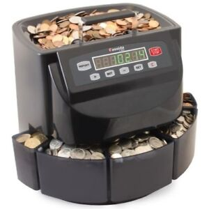 Canadian Coin Sorter Money Counter Digital Machine Change Wrapper Business Home