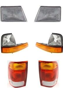 Headlights Tail Lights And Signal Lamps Fits The Ford Ranger 1998 1999 Set Of 6