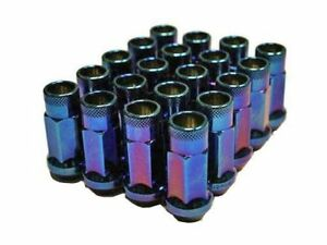 Muteki Sr48 Extended Racing Lug Nuts M12x125mm Burnt Blue 20pcs