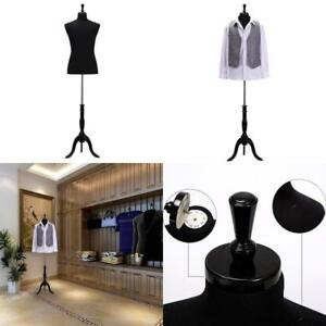 Wowell Male Dress Form Torso With Black Wood Stand And Jerseys Torsos Mannequins