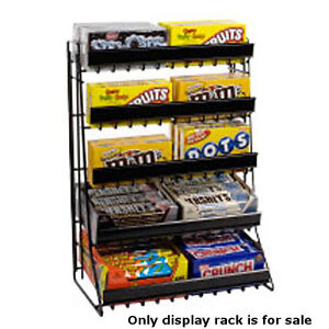 New Retail Shelf Counter Top Snack 5 Tier Candy Counter Black Display Rack