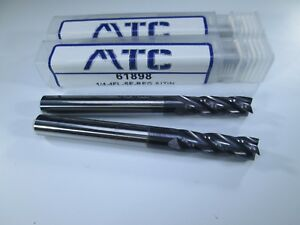 Lot 4 Pcs Usa Carbide 1 4 Endmills 4 Flute Altin Milling Long Length Tools