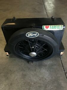 Vintage 1928 31 Ford Model A Metal Luggage Carrier Trunk And Spare Tire Carrier