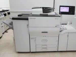 Ricoh Pro C5100s Color Laser Production Printer W Stapler Finisher Fiery 65 Ppm