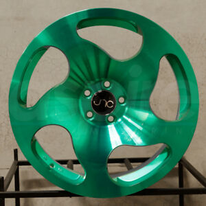 4 new 18 Jnc 036 Jnc036 Wheels 18x8 5 5x100 35 Transparent Green Rims