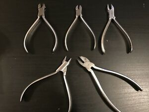 Orthopli Corp Orthodontic Pliers Bracket Tweezers And Knipex Wire Cutter