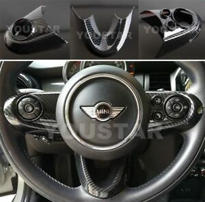 Steering Wheel Cover Carbon Effect 1x Set For Mini Cooper F54 F55 F56 F57 F60