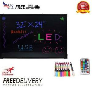 32 X 24 Flashing Illuminated Erasable Neon Led Message Menu Writing Sign Board