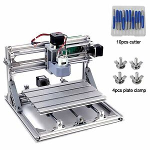 Cnc Hobby Router Kits Grbl Control 3 Axis Plastic Acrylic Pcb Pvc Wood Carving
