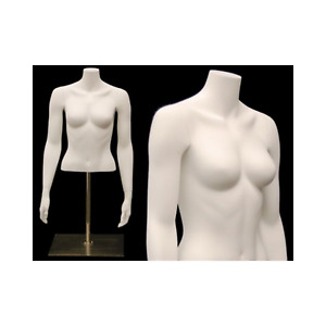 Female Headless Torso Mannequin Matte White Female Table Top Torso Mannequin