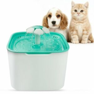 Dog Cat Fountain 2l Pet Water Fountain Automatic Drinking Dispenser With Pump