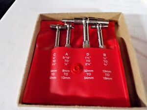 Starrett Telescoping Gage Set Number Of Pieces 4 0 312 To 2 125 Range ef