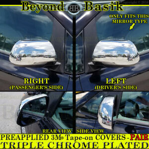 For 2011 2018 Toyota Sienna Chrome Mirror Covers Trims W O Turn Signals