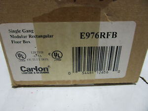 Carlon E976rfb Single Gang Rectangular Outlet Floor Box New In Box Free Ship