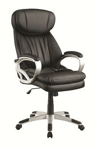 Black Bucket Seat Office Chair With Headrest By Coaster 800165