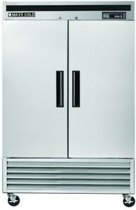 Maxx Cold 49 Cu Ft Commercial Upright Reach in Freezer In Stainless