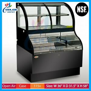 Open Air Display Case Refrigerator Deli Case Cooler Case Grab And Go Case Nsf