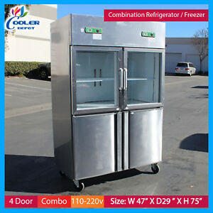 4 Door Commercial Freezer Refrigerator Combo Model Rg32 Restaurant Equipment New