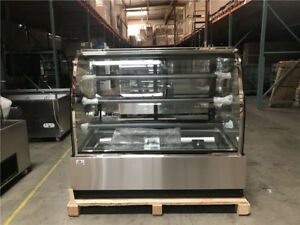 Deli Case New 60 Show Curved Glass Refrigerator Display Bakery Pastry Meat