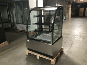 Deli Case New 36 Show Curved Glass Refrigerator Display Bakery Pastry Meat