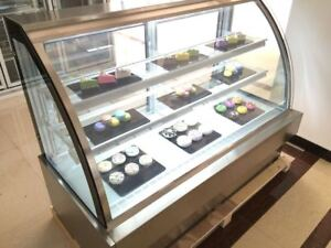 Deli Case New 48 Show Curved Glass Refrigerator Display Bakery Pastry Meat