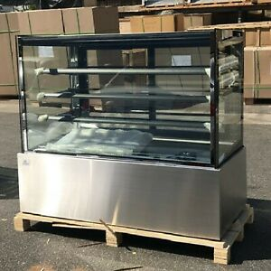 Deli Case New 60 Glass Show Case Refrigerator Cooler Bakery Display Nsf