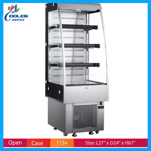 27 Open Air Cooler Refrigerator Display Case Drinks Deli Case Nsf