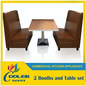 New Restaurant Booths Seating Table For Sale Set 48 Booths X2 48 l Table X1