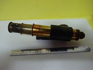 Microscope Part Small Antique Tubus Eyepiece Objective Optics As Is Bn x3 12