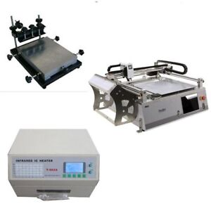 Small Budget Smt Prototype Line Pick And Place Robot Solder Printer Oven j