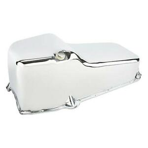 Chrome Plated Oil Pan For Sbc Chevrolet Chevy 1955 Thru 1979 Engine Motor Crate
