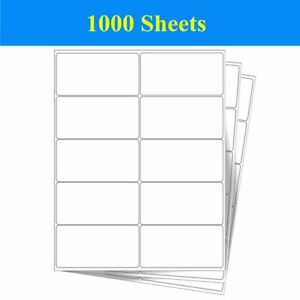10000 Labels 2 X 4 White Self Adhesive 10 Up 1000 Sheet Shipping Address Label