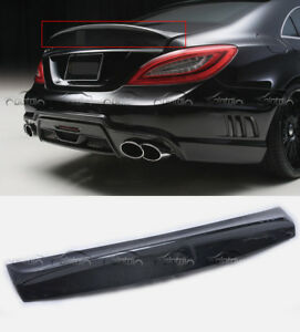 Fits For Mercedes Benz W218 Cls Class Wald Carbon Fiber Rear Spoiler Boot Wings